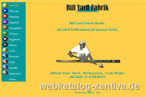 Bill Yard Fabrik - Billard und Dart in Berlin