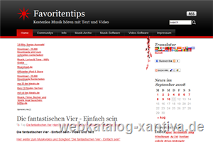 Favoritentips Musik mit Lyrics und Videoclips