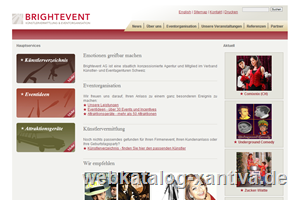 Brightevent AG - Künstlervermittlung, Eventorganisation